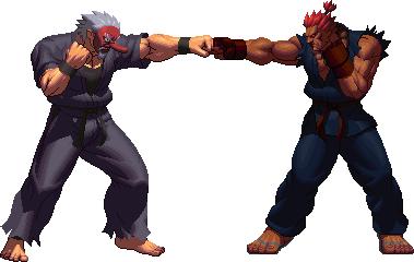 boss_battle___mr_karate_vs_akuma_by_vira