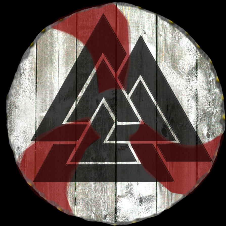 Valknut Shield Tatoo Design By Asguardviking