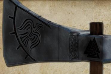 Norse Battle axe by asguardviking