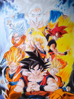 Goku form by Yusaika