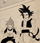 Goku 17 and vegeta 18 vs moro