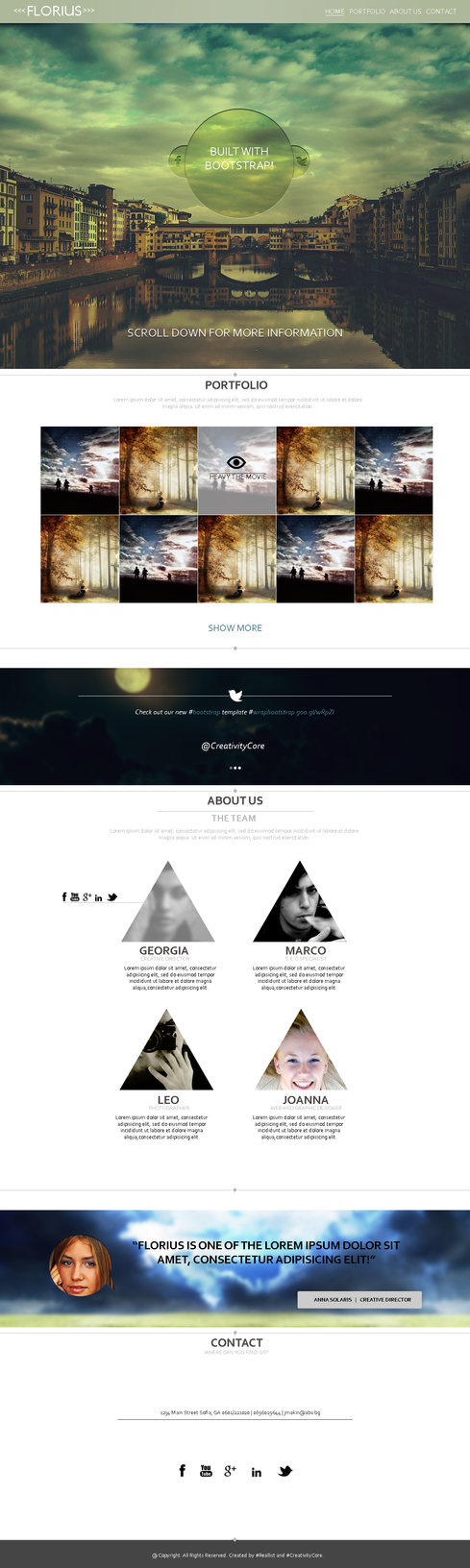 Responsive Bootstrap Web Template by nARTAlone