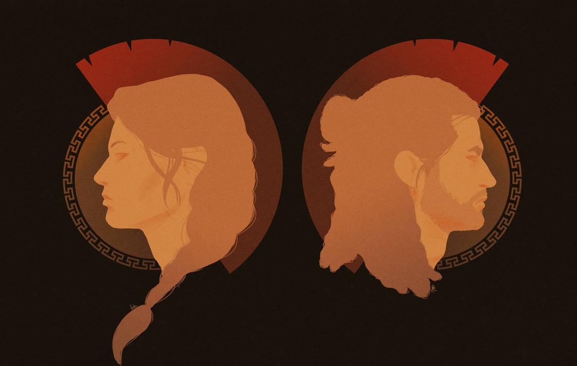 Spartan siblings by cute-ellyna