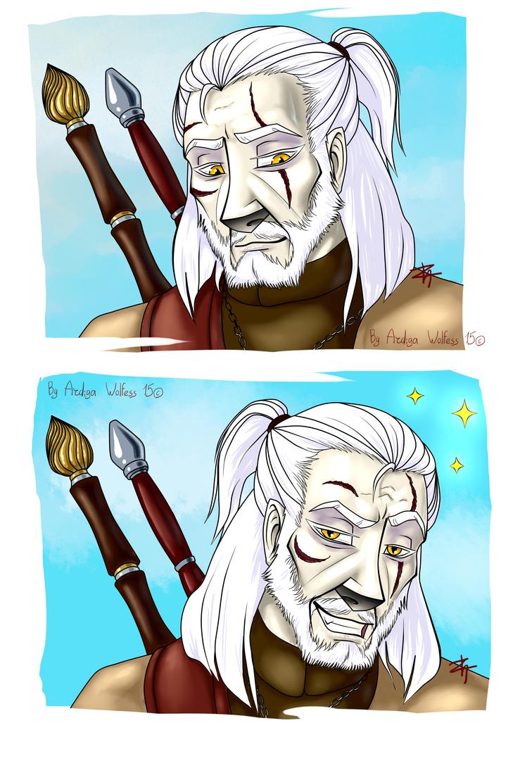 Witcher meme Blank by ArdigaWolfess