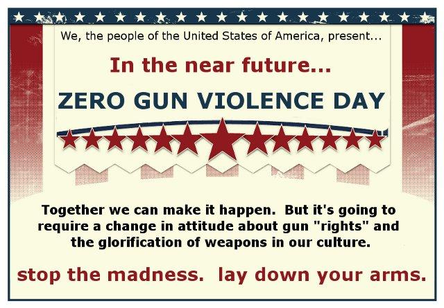 Zero Gun Violence Day by Pooleside