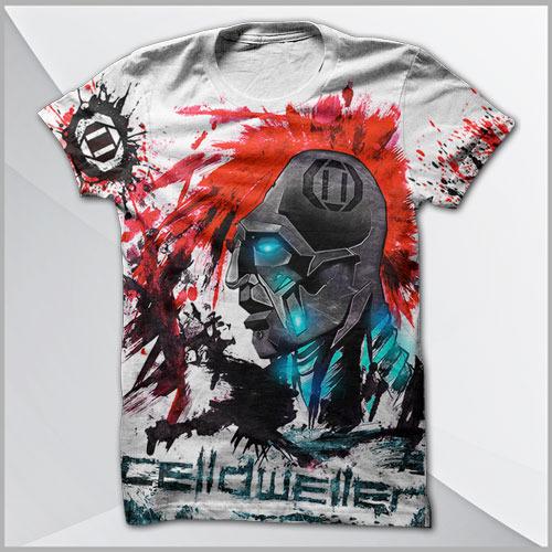 Celldweller - Klaybot (All-Over Print) T-Shirt
