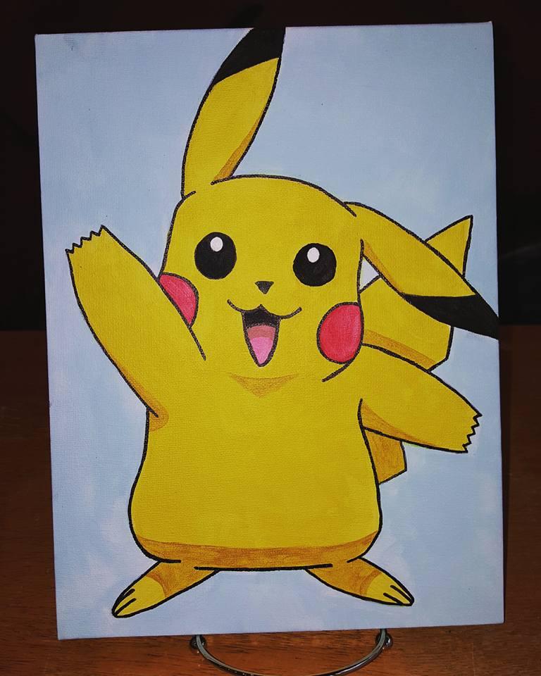 Pikachu Canvas Paint