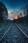 railroad tracks by frechdachs90