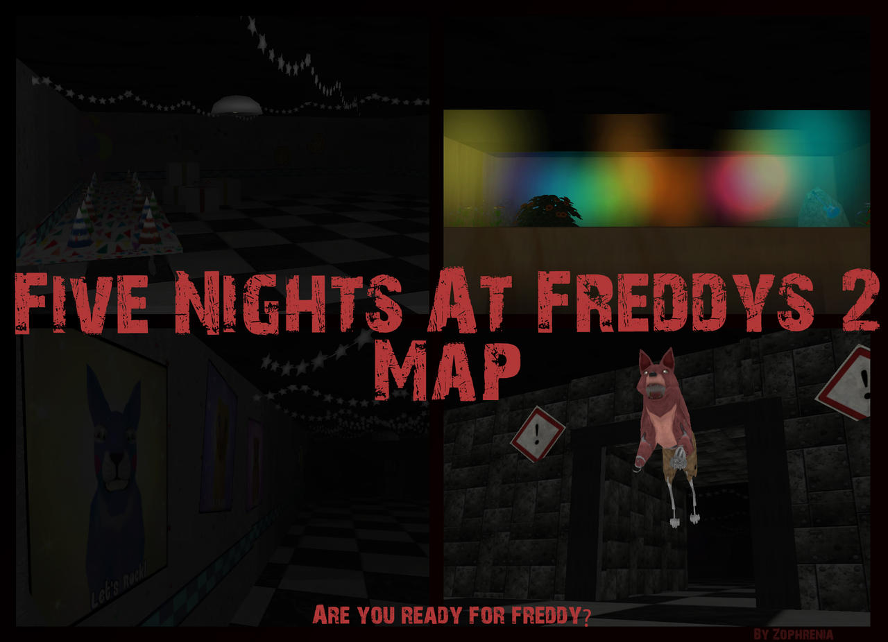 Fnaf 2 map are you ready for freddy update 3 by zophrenia on