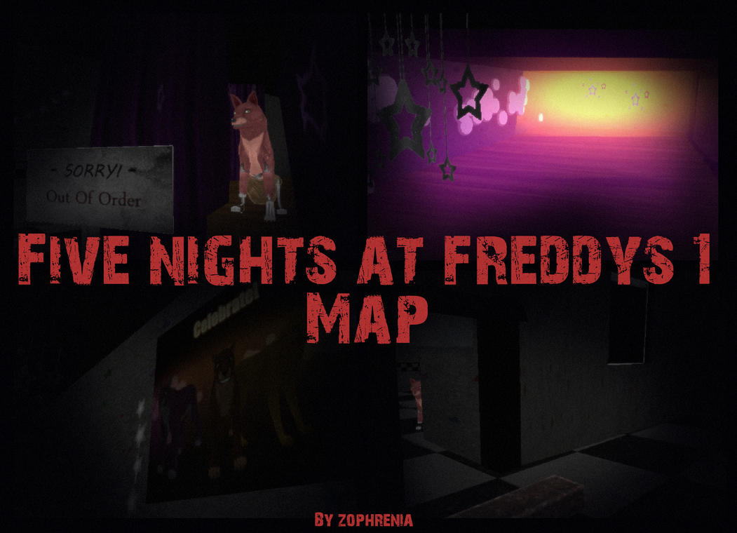 Fnaf 1 map something old something new update by zophrenia on