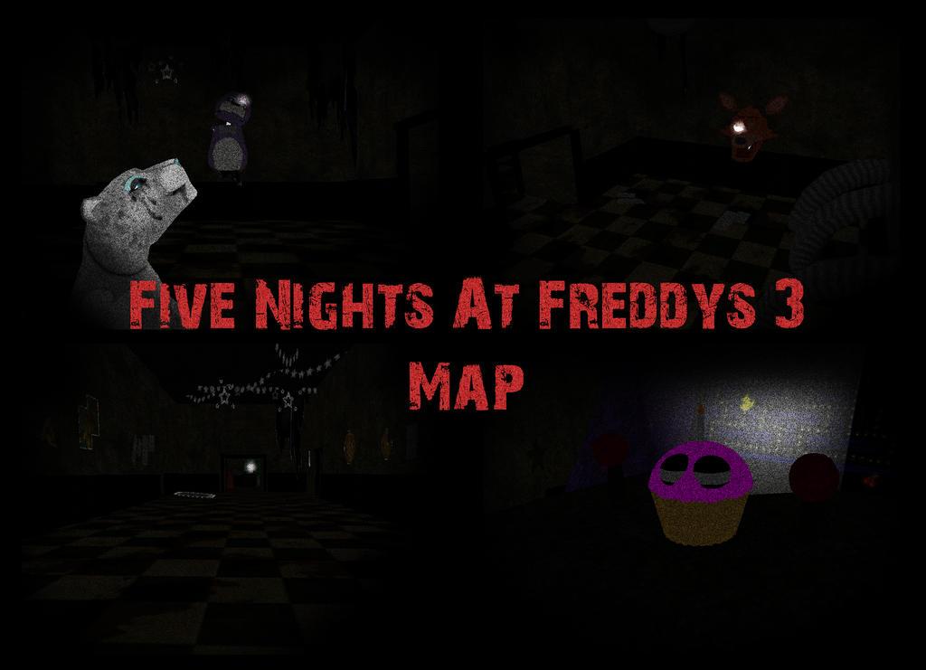 FNAF 3 Map by Zophrenia