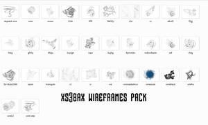 xs3bax  pack de wireframes by xs3bax