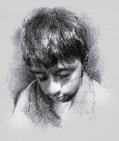 Sketching kid's head by SILENTJUSTICE