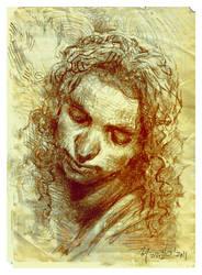 Angel's head sketch d by SILENTJUSTICE