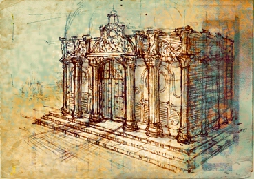 Architecture Sketch By SILENTJUSTICE