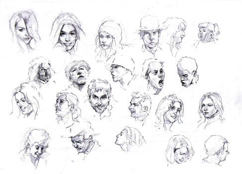Faces sketch study 2