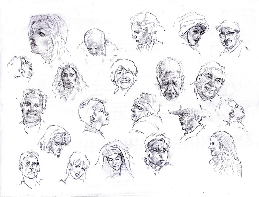 faces sketch study 3 by silentjustice on deviantart