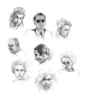 Faces sketch study 5