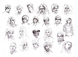 Faces sketch study 6 by SILENTJUSTICE