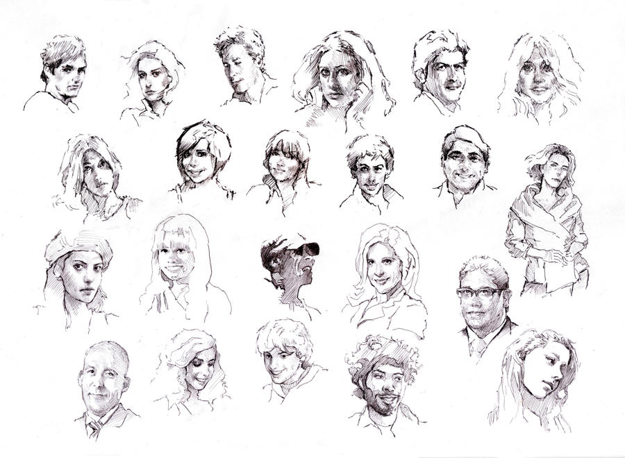 faces sketch study 6 by silentjustice on deviantart