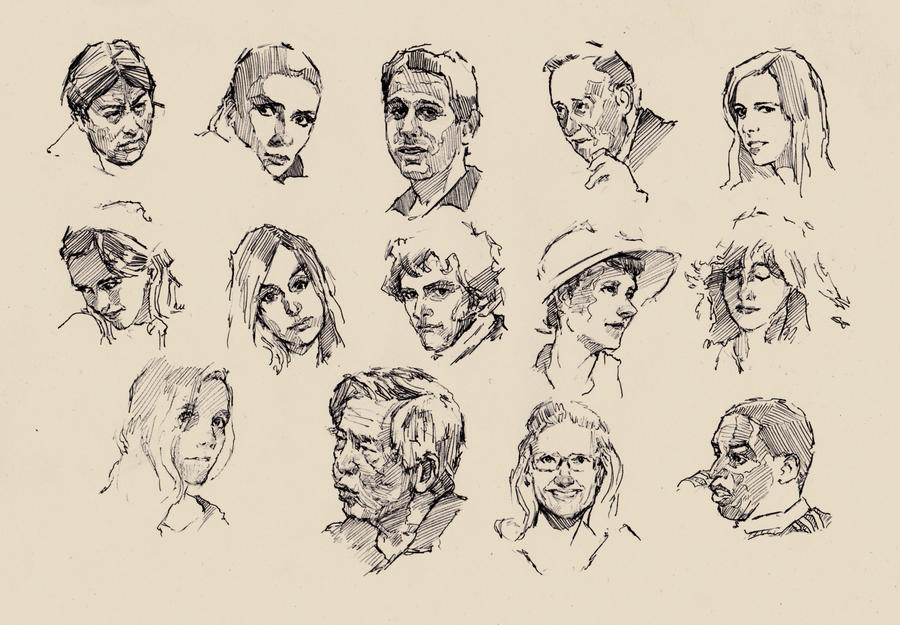 faces sketch study 7 by silentjustice on deviantart
