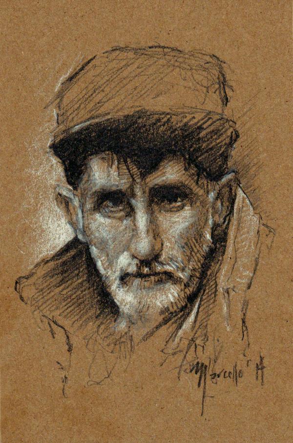 Sketch practice Old man by SILENTJUSTICE