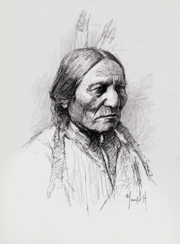 Quick sketch Sitting Bull by SILENTJUSTICE