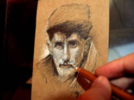Sketch practice Old man 1