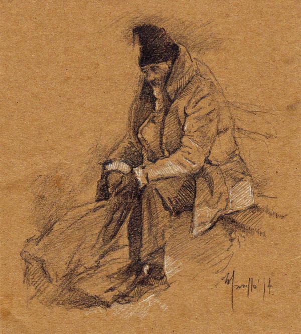 Quick sketch Poor man by SILENTJUSTICE