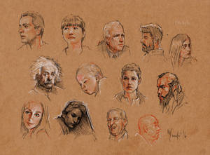 Faces sketches study 11