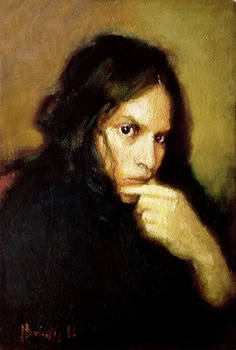 Small Selfportrait in oils 1