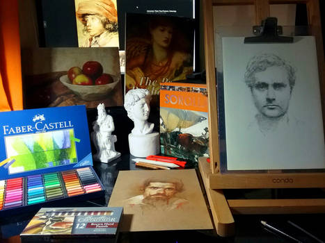 Workspace and art supplies
