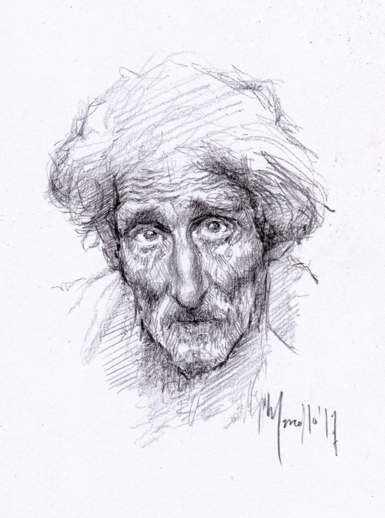 Old man quick drawing by SILENTJUSTICE