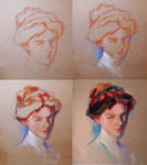 Study in pastels after Sorolla Process