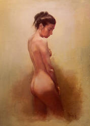 Study of nude in oils 1 by SILENTJUSTICE