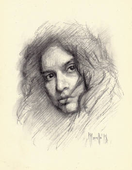 Portrait in charcoal SP