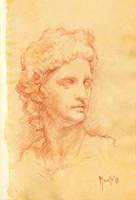 Sanguine portrait practice B by SILENTJUSTICE
