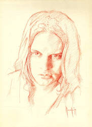 Daily portrait drawing by SILENTJUSTICE