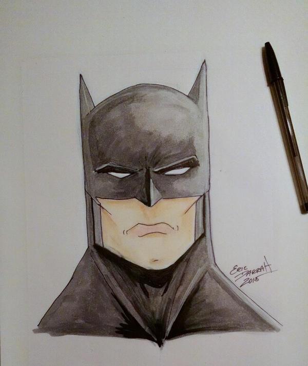 Batman marker piece by SalemCrow