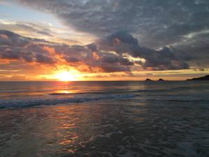 Hawaiian beach sunset