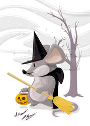 Witch Mouse by seancor76