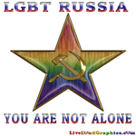 Support LGBT Russia Typography design.