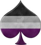 Asexual Pride Spade Symbol