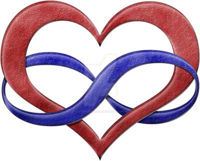 Polyamorous Pride Infinity Heart by lovemystarfire