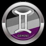 Gemini - Asexual Pride  Button by lovemystarfire