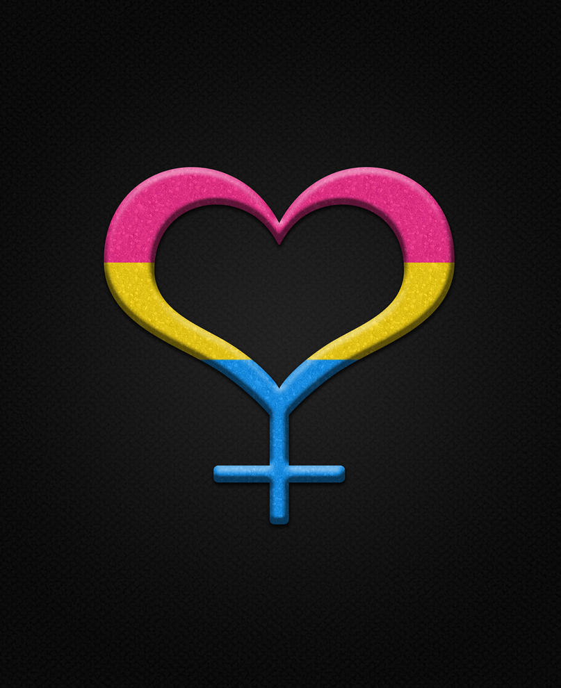Pansexual Pride Female Gender Symbol By Lovemystarfire On