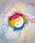 Pansexual Pride Yin and Yang