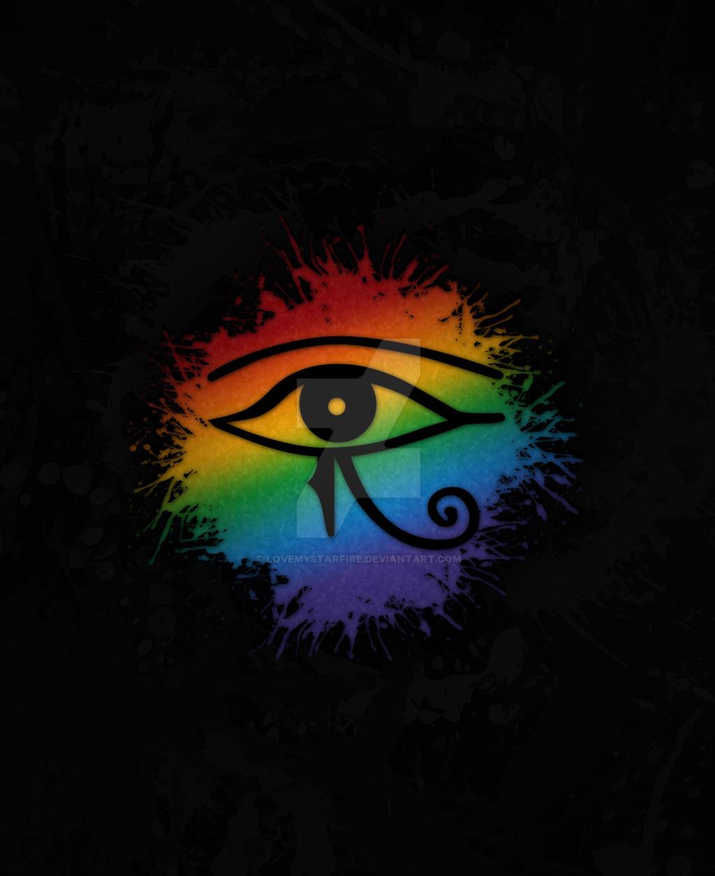 Lgbt Egyptian Eye Of Ra By Lovemystarfire On Deviantart