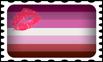 Lipstick Lesbian Pride Stamp by lovemystarfire