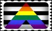 Straight Ally Pride Stamp by lovemystarfire